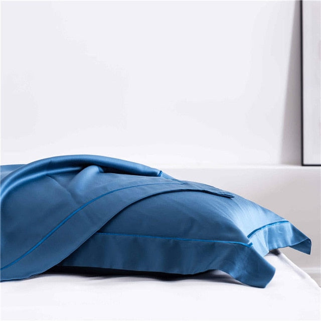 Navy Blue Silk  Pillowcase