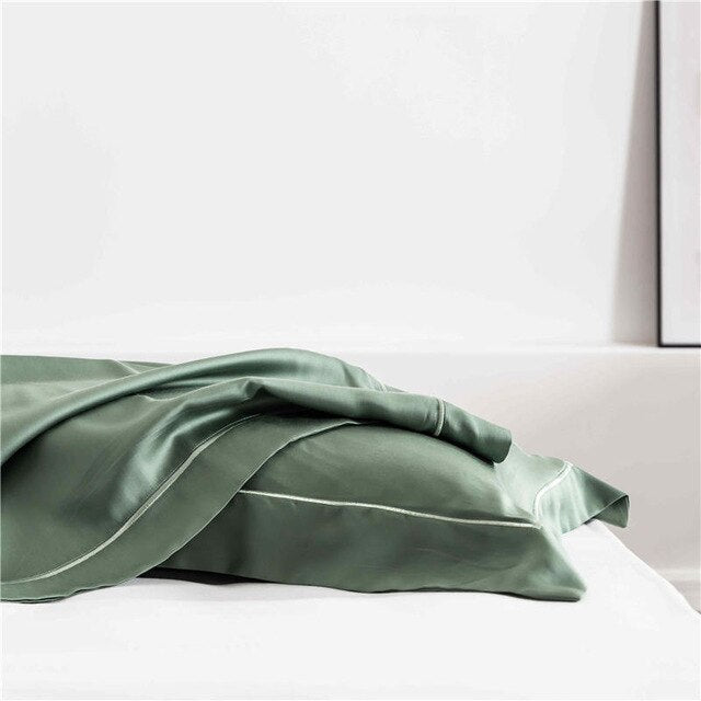 Tranquil Green Silk  Pillowcase