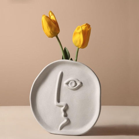 Abstract Face Vase