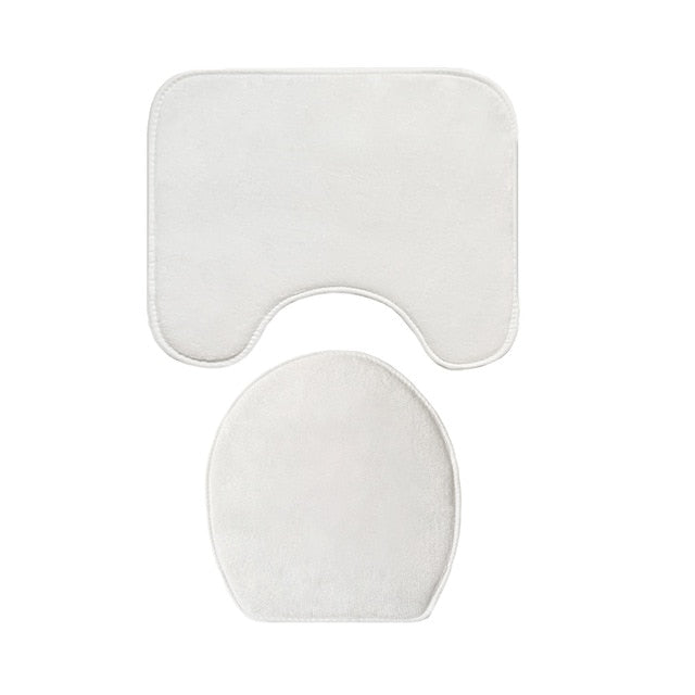 White Bathroom Mat Set