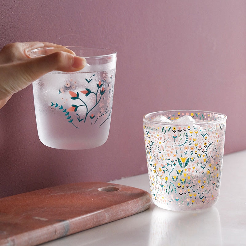 Cute Floral Glass