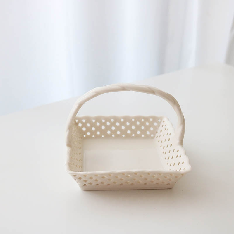 Hollow Ceramic Basket