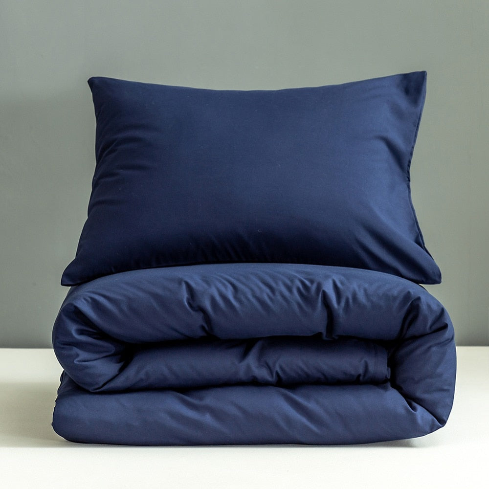 Blue Pillowcases Set
