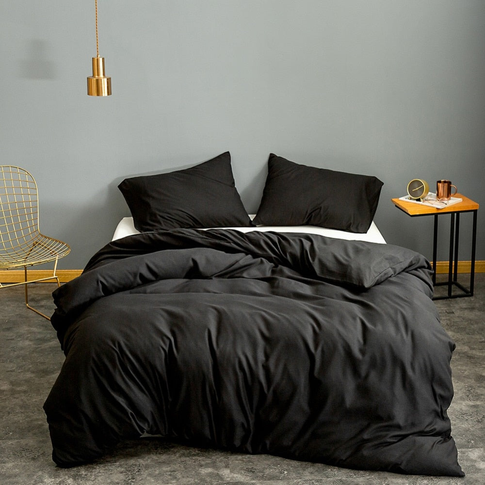 Black Quilt Bed Cover