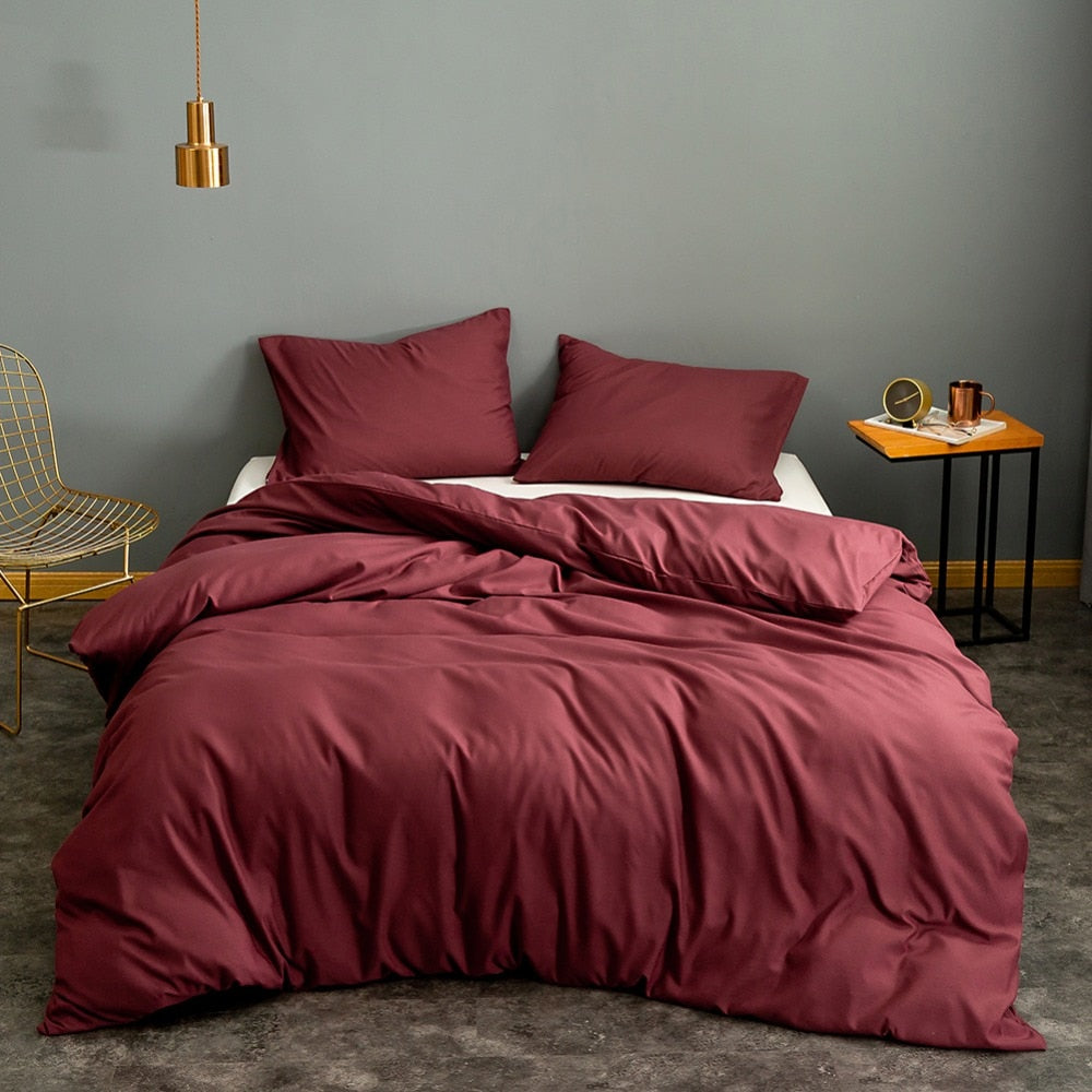 Red Wine Quilt Bed Cover