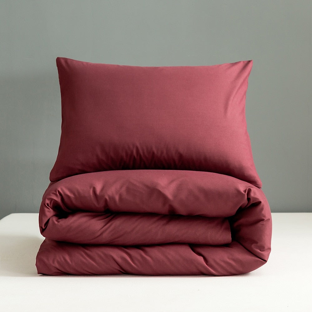 Red Wine Pillowcases Set