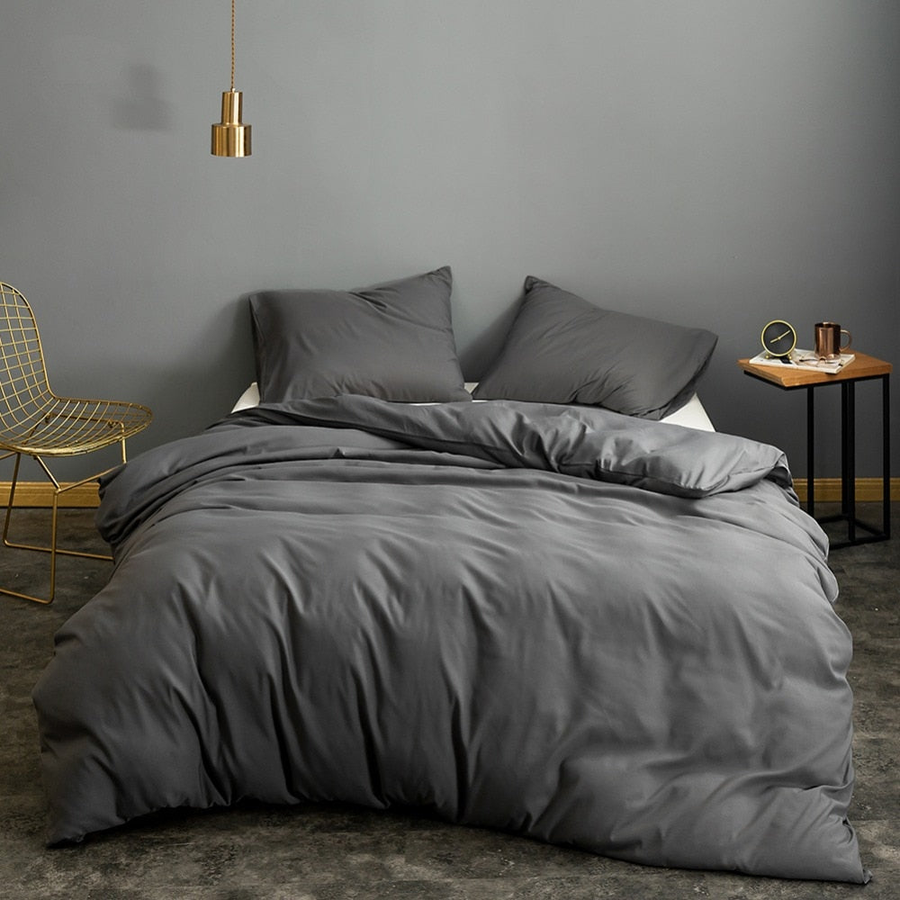 Grey Quilt Bed Cover