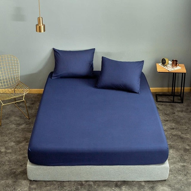 Blue Fitted Bed Sheet