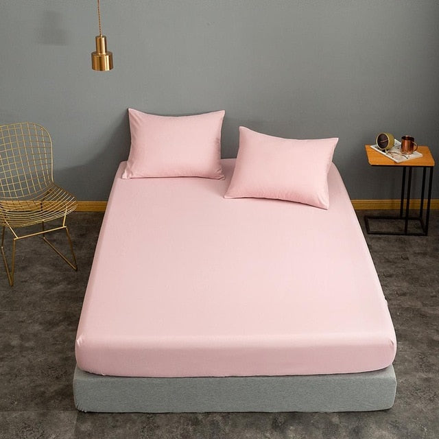 Pink Fitted Bed Sheet