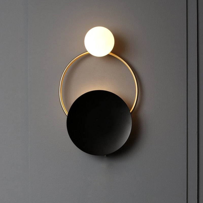 Golden Ring Wall Lamp