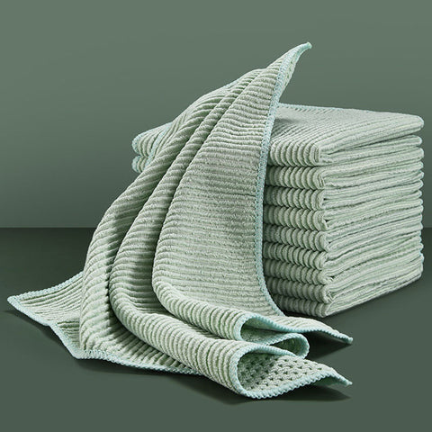 Green Kitchen Towels Set