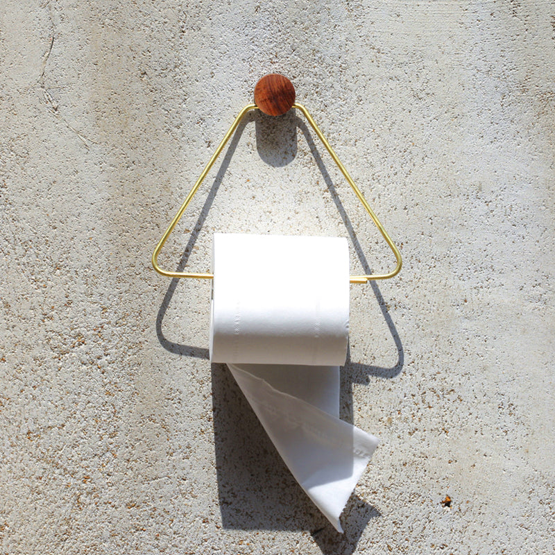 Wood Metal Toilet Roll Holder