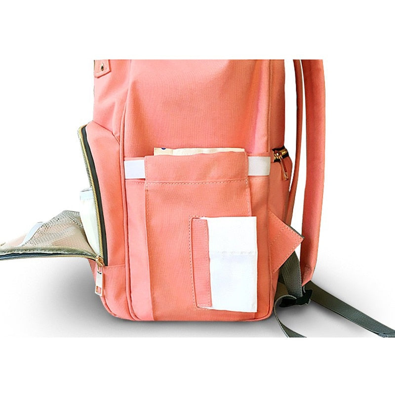 Solid Colors Baby Diaper Bag