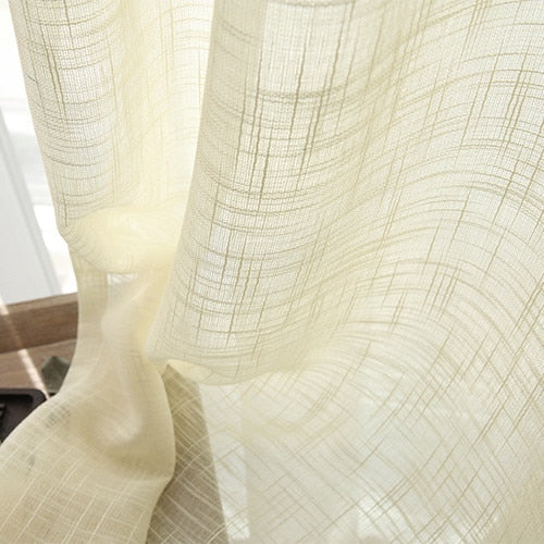 Sand Soft Color Tulle Sheer Curtains