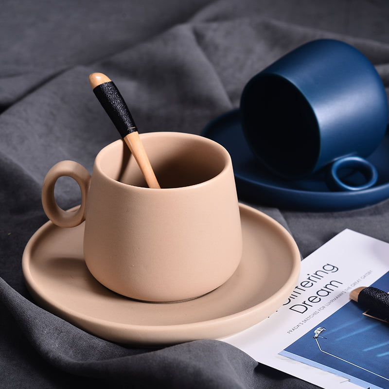 Macaroon Coffee Cup Set