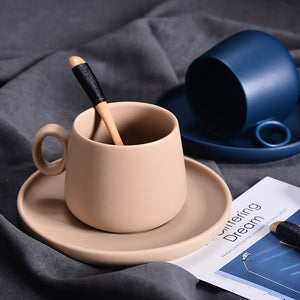 Macaroon Coffee Cup With Saucer Set