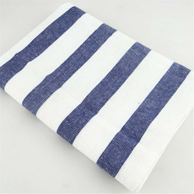Blue white striped kitchen towel