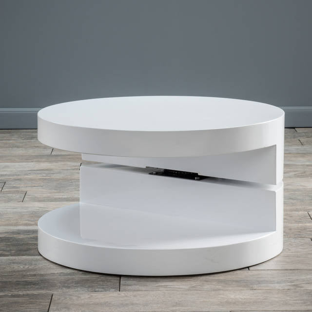 Modern Swivel Coffee Table.Circular Modern Swivel Coffee Table