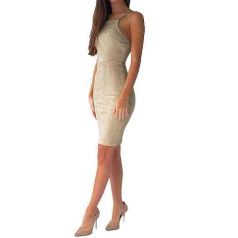 Velvet Bodycon Party Dress-This Fashion Woman