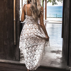 Backless Lace Dress-This Fashion Woman