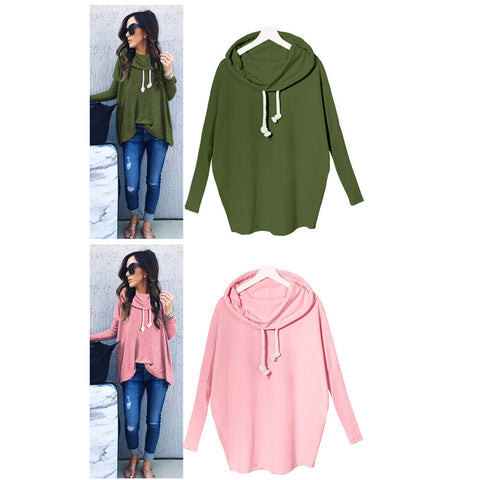 Fashion Bow Neck Hoodie