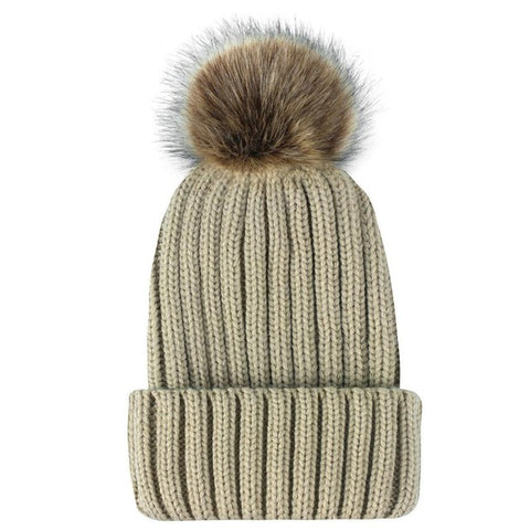 Fur Pompom Hat-This Fashion Woman