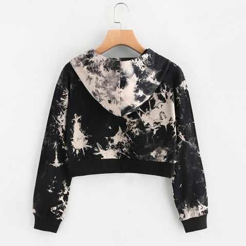 Long Sleeve Hooded Hip hop Crop Top-This Fashion Woman
