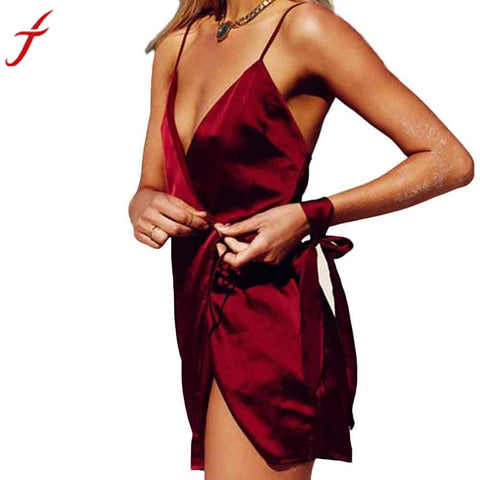 Fashion Solid Red Dress