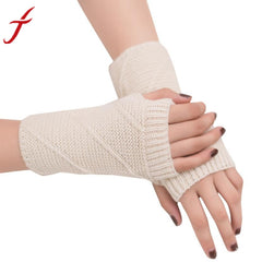 Fingerless Knitted Gloves-This Fashion Woman