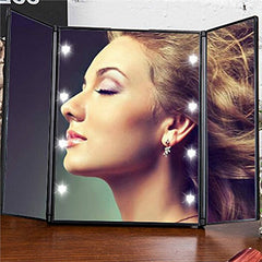 Tri-Fold Lighted Travel Makeup Mirror-This Fashion Woman