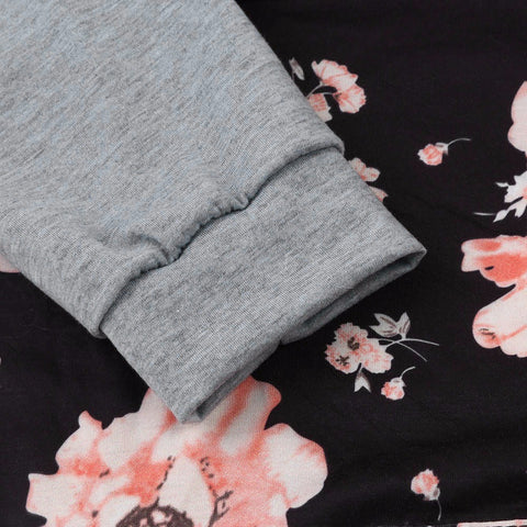 Floral Loose Hoodie Sweatshirt-This Fashion Woman
