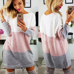 O Collar Knit Casual Dress-This Fashion Woman