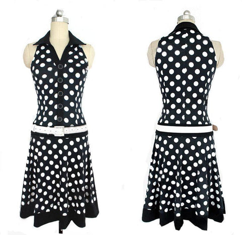 Polka Dot Sleeveless Dress-This Fashion Woman