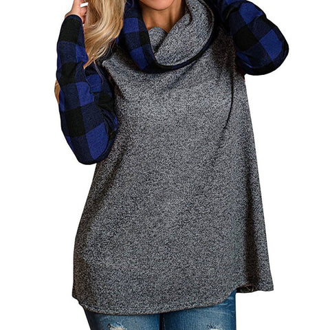 Turtleneck Long Sleeve Pullover Sweatshirt ( S-5XL )-This Fashion Woman