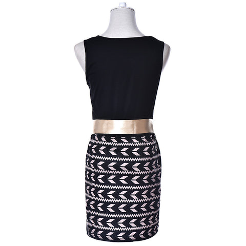 Stylish Printed Cocktail Evening Dress-This Fashion Woman