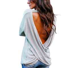 Fashion Backless Blouse-This Fashion Woman