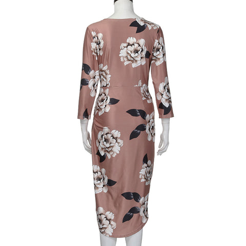 Casual Floral Print Dress-This Fashion Woman