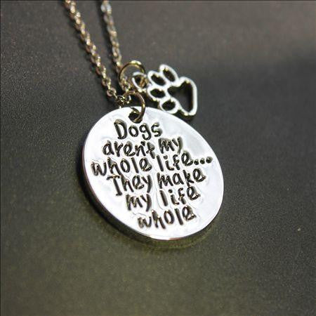 Engraved Pendant with Chain - For dog lovers-This Fashion Woman
