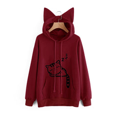 Fashion Cat Ear Hoodie-This Fashion Woman