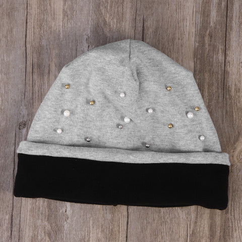 Shine Pearls Beanie Hat-This Fashion Woman