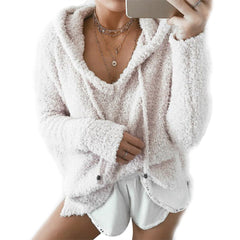 V Neck Long Sleeve Loose Fit Sweater-This Fashion Woman