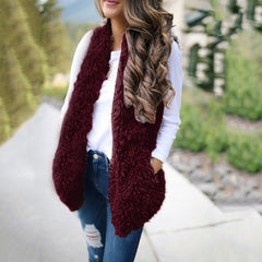 Casual Sleeveless Warm Vest-This Fashion Woman
