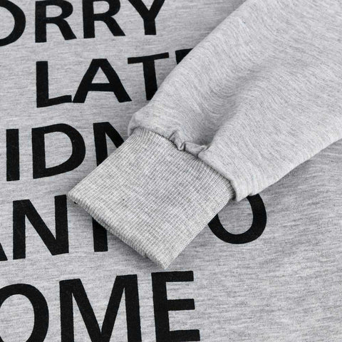 Hoodie Long Sleeve Printed Sweatshirt-This Fashion Woman