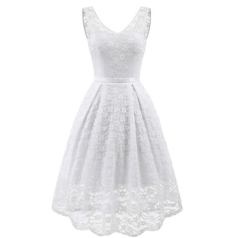 Princess-like Floral Lace Dress-This Fashion Woman