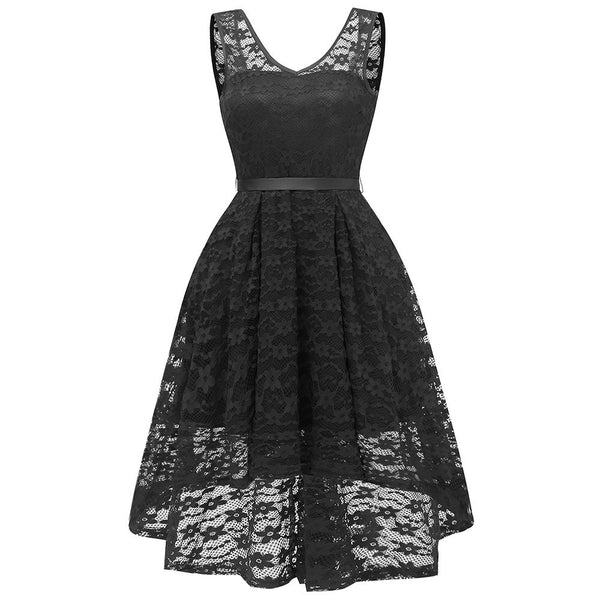Princess-like Floral Lace Dress