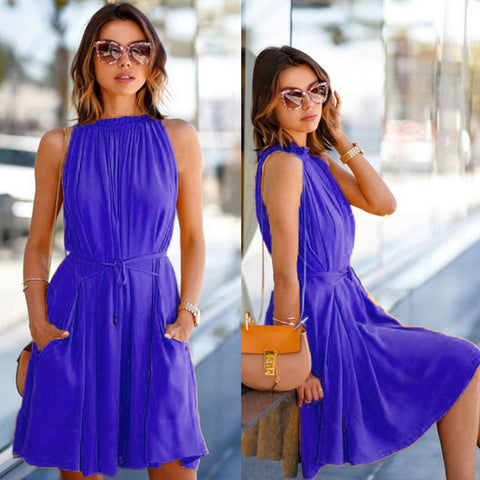 Sleeveless Beach Evening Party Casual Dress