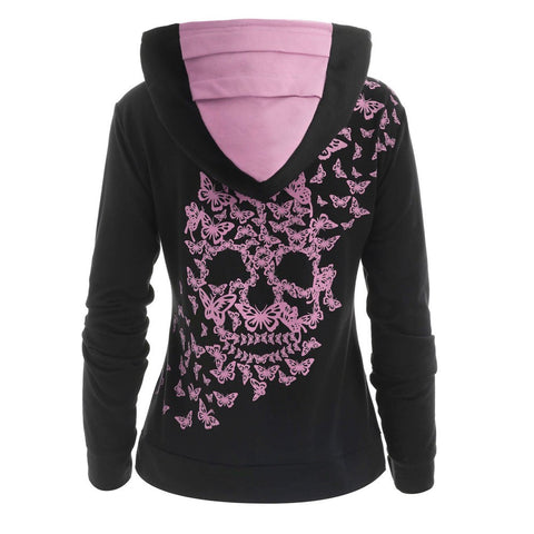 Fashion Skull Print Hoodie-This Fashion Woman