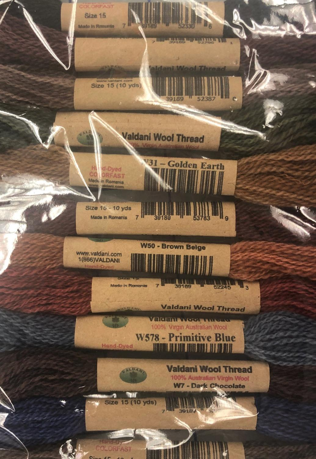 Primitive Art Wool Thread Collection