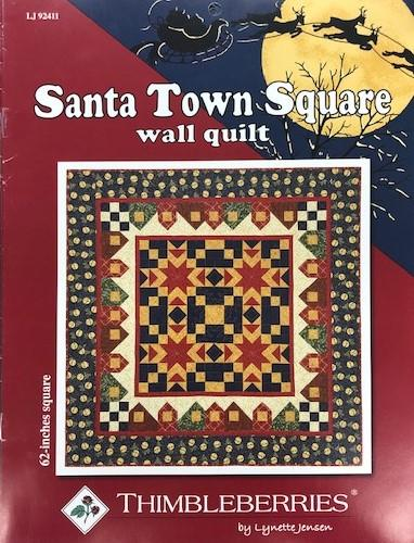 Santa Town Square Wall Quilt