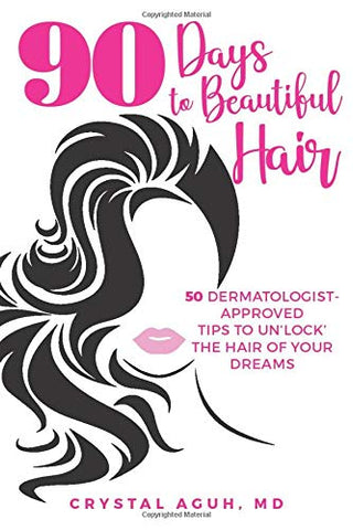 Book cover 90 days to beautiful hair